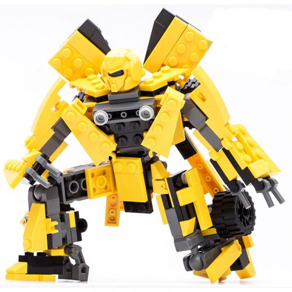 2 In 1 Transformer Robot Series - Yellow