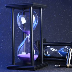 60 Minutes Sand Hourglass Sand Timer - Black - Colours