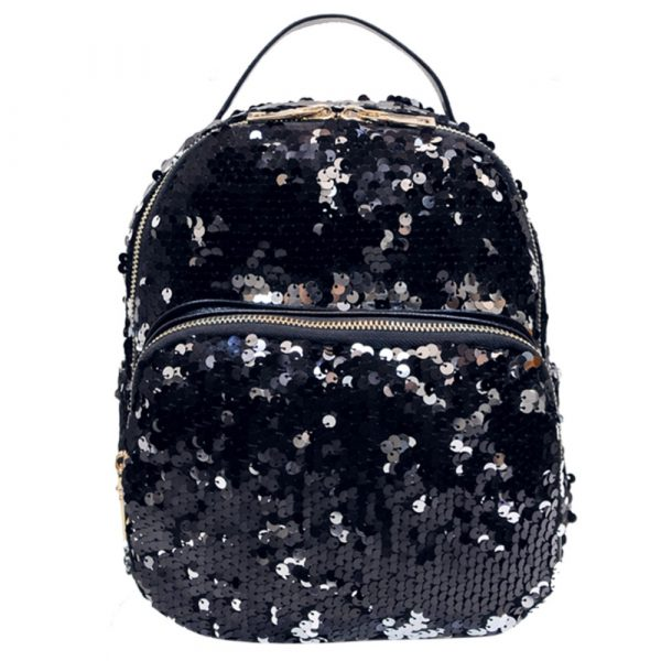 Women's PU Leather Sequins Backpack - Bling Backpack