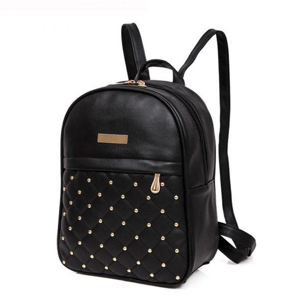 Fashionable Girl's Studded School Backpack