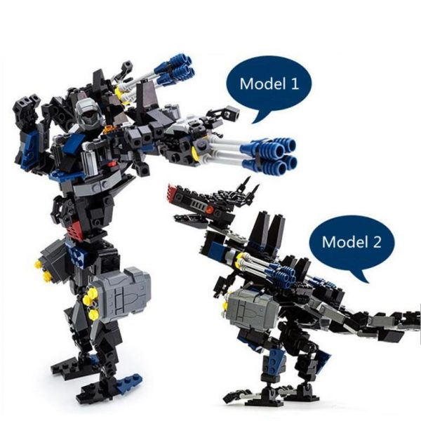 2 In 1 Transformer Robot Series - Black