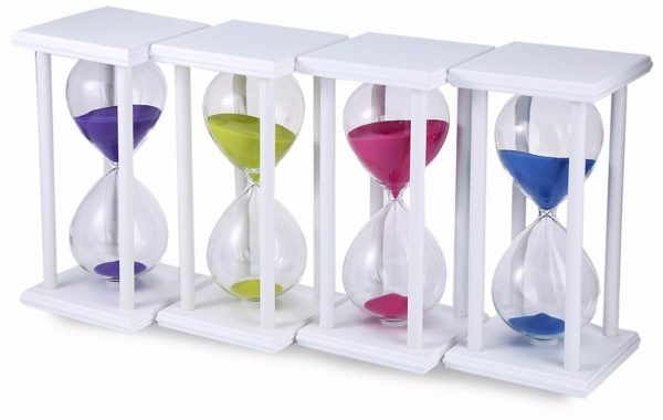 60 Minutes Sand Hourglass Sand Timer - White