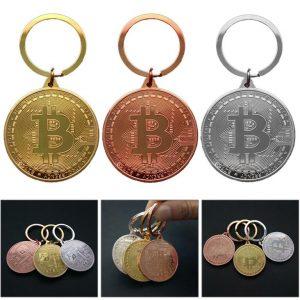 Bitcoin Coin Key Chain