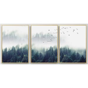 Canvas Wall Art - Nordic Forest Landscape