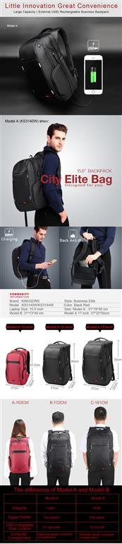 Men's Business Backpack for Laptop - Convenience