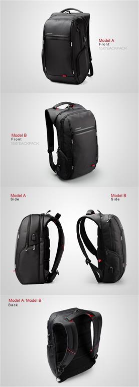 Men's Business Backpack for Laptop - Front