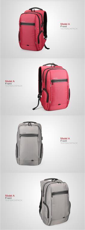 Men's Business Backpack for Laptop - Model Front