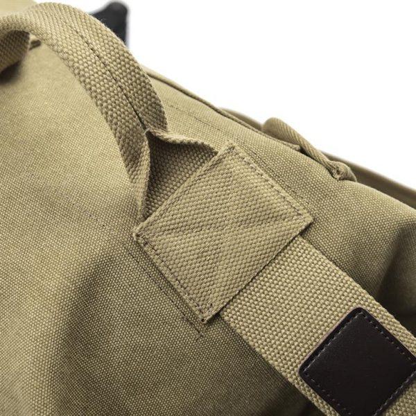 Men's Canvas Shoulder Bag - Detail