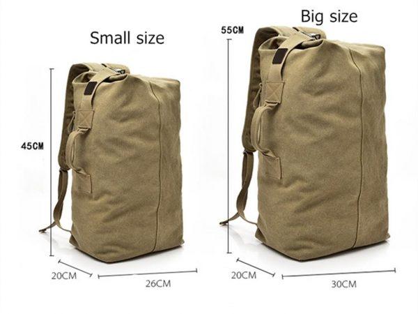Men's Canvas Shoulder Bag - Size