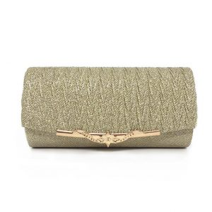 Women's Evening Glitter Clutch - Gold