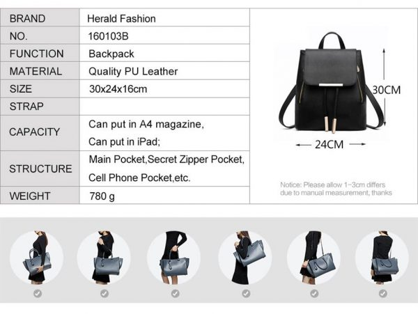 Women's High Quality Backpack - Preppy - info