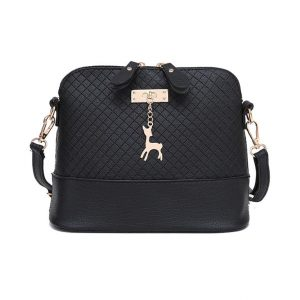 Women's Shoulder Mini Bag - Deer Toy - black