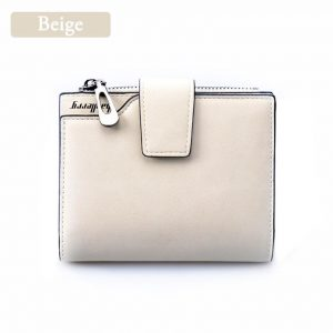 Women's Vintage Leather Purse - Beige