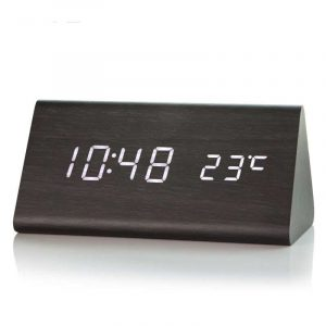Wooden-LED-Alarm-Clock