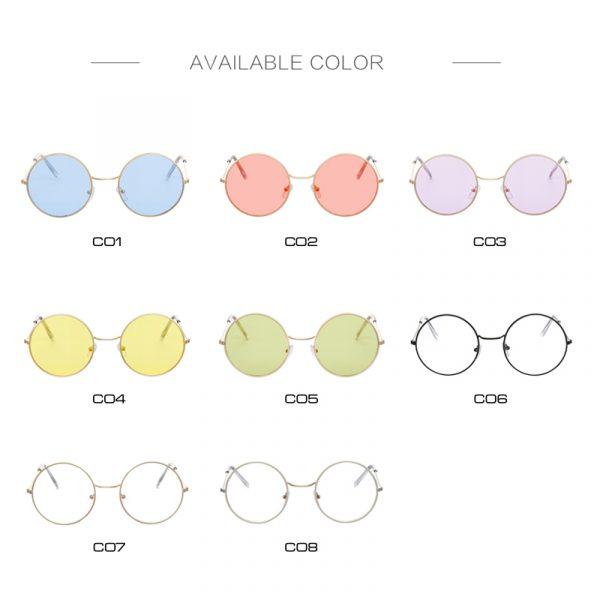 Women's Round Mirror Sunglasses