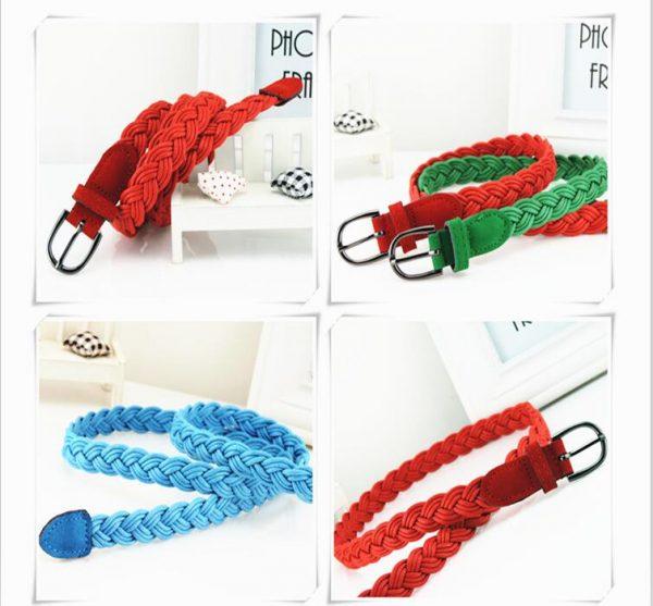 Women's Braided Rope Belt 1