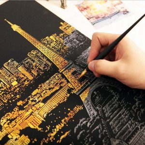 DIY Art - Decorative Scratching Paper - Cities Of The World