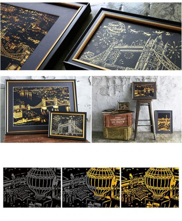 DIY Art - Decorative Scratching Paper - Cities Of The World - 1