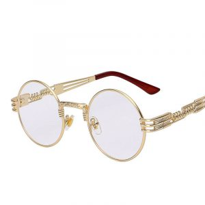 Gothic Round Steampunk Mirror Sunglasses