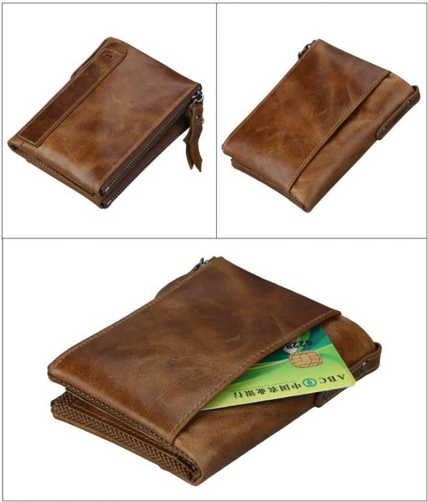 Large Genuine Leather Men's Wallet - profile 2