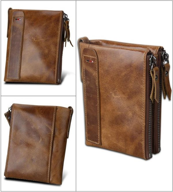 Large Genuine Leather Men's Wallet - profile