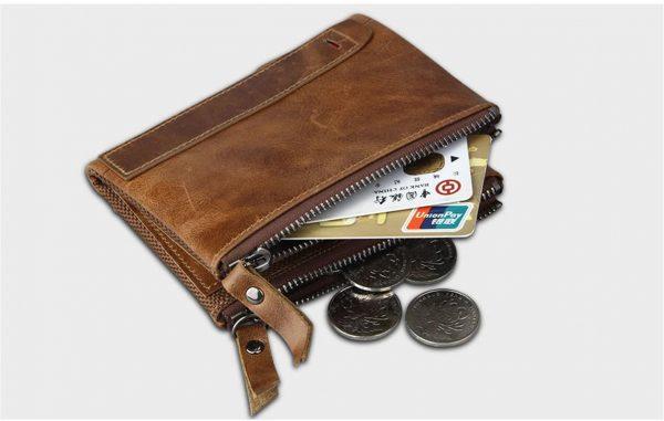 Large Genuine Leather Men's Wallet - side