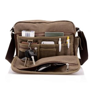 Men's Canvas Crossbody Messenger Bag