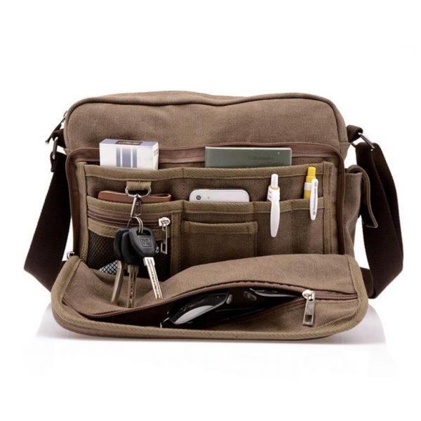 Men's Canvas Crossbody Messenger Bag