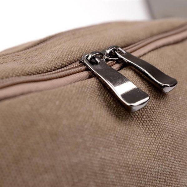 Men's Canvas Crossbody Messenger Bag - Zipper