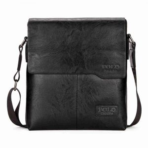 Men's Casual Leather Bag - Black