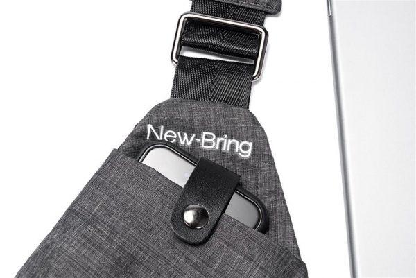 Men's Compact Single Shoulder Crossbody Bag - Detail