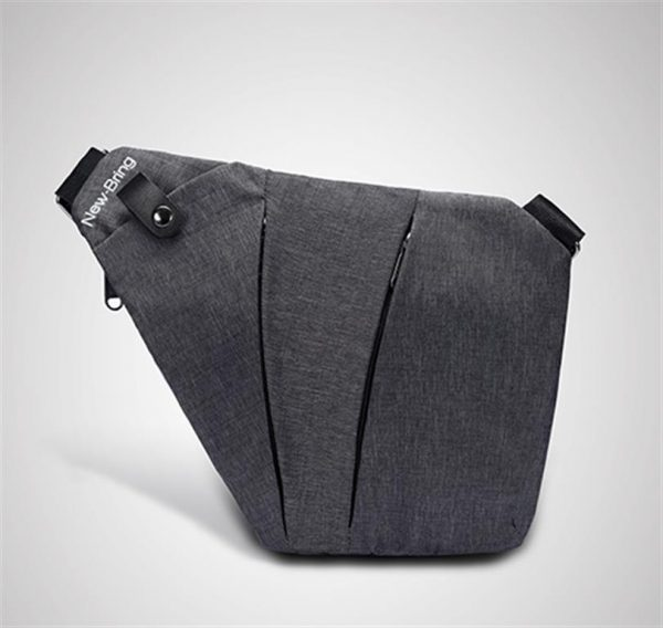 Men's Compact Single Shoulder Crossbody Bag - Front