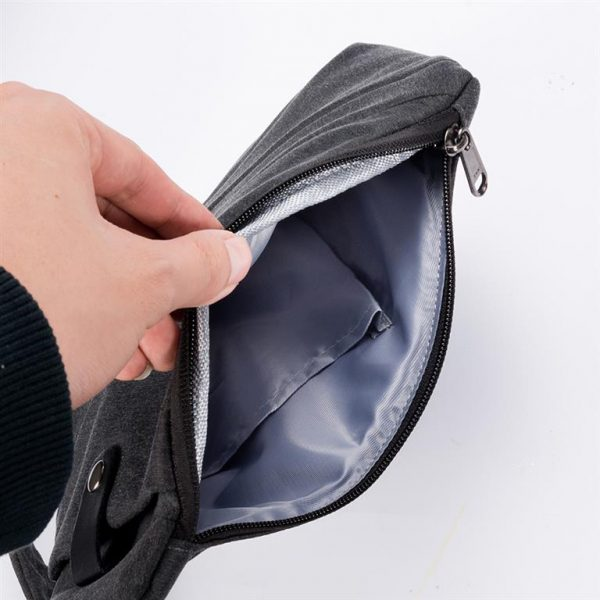 Men's Compact Single Shoulder Crossbody Bag - Interior