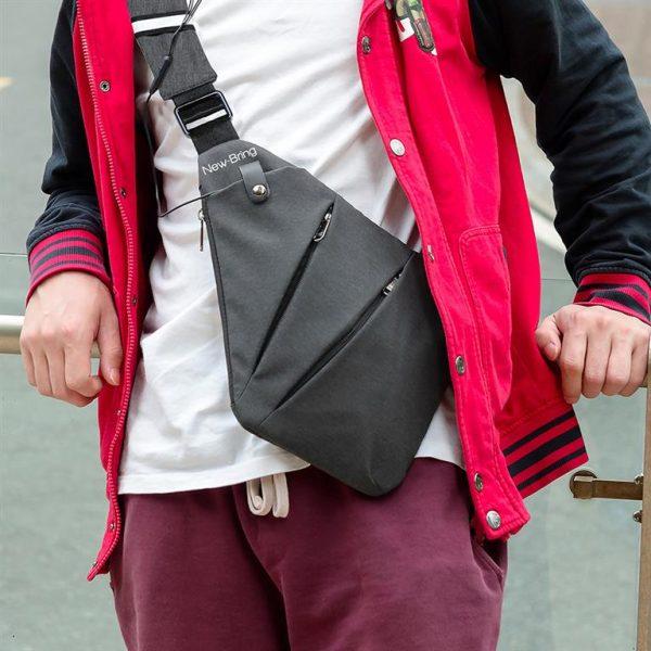 Men's Compact Single Shoulder Crossbody Bag - Model 3