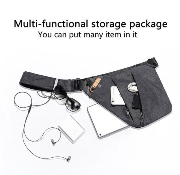 Men's Compact Single Shoulder Crossbody Bag - Multifunctional