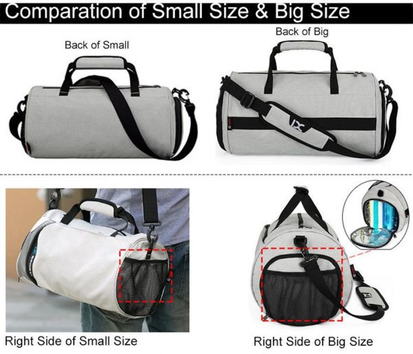 Men's Cylindrical Sports Gym Bag - Comparison