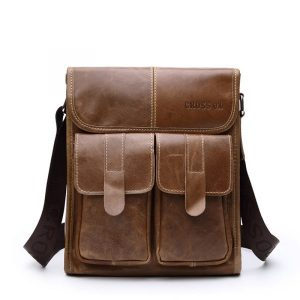 Mens-Genuine-Cowhide-Satchel