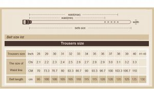 Men's Genuine Leather Belt - Size