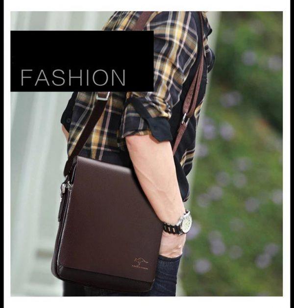 Men's Leather Messenger Crossbody Bag - Demo 5