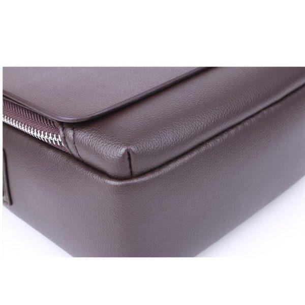 Men's Leather Messenger Crossbody Bag - Detail 3