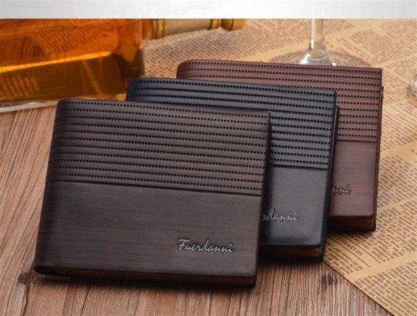 Men's Leather Short Slim Wallet