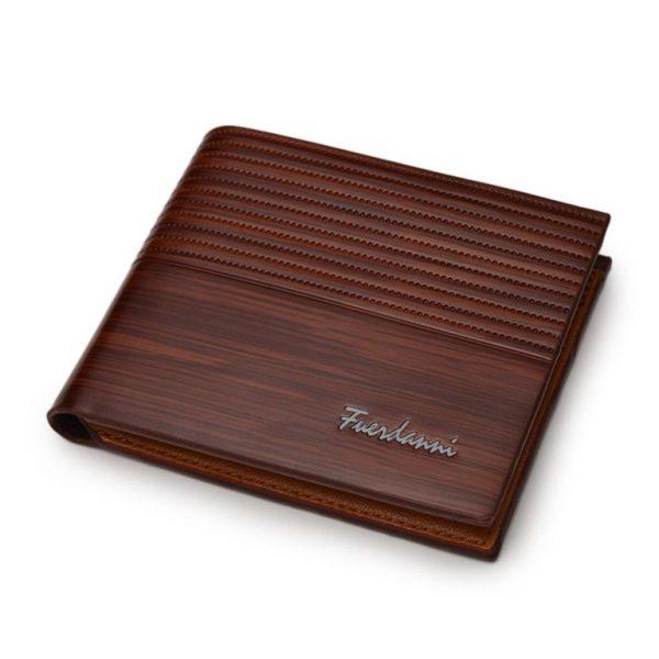 Men's Leather Luxury Slim Wallet - Brown