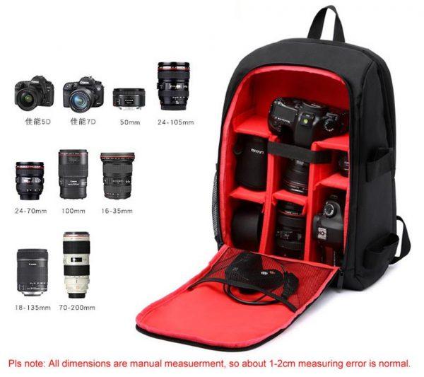 Multi-Functional DSLR Camera Bag - Contents