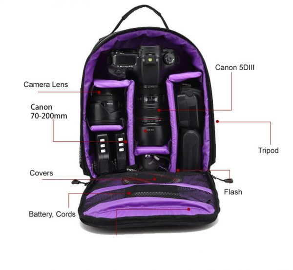 Multi-Functional DSLR Camera Bag - Roomy