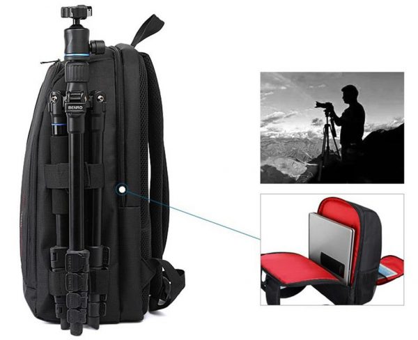 Multi-Functional DSLR Camera Bag - Side