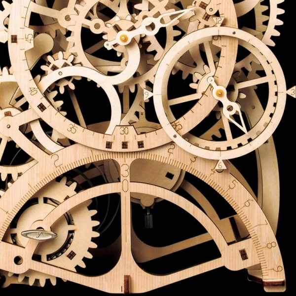 Pendulum Clock Wooden Model Kit - Detail 1