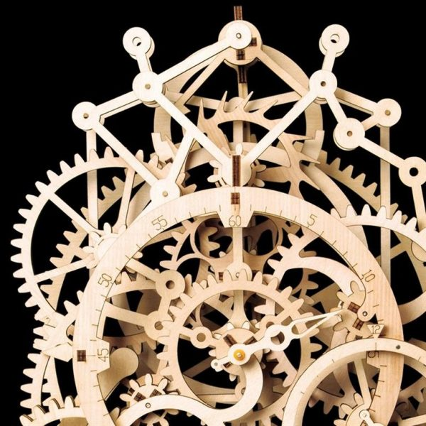 Pendulum Clock Wooden Model Kit - Detail 2