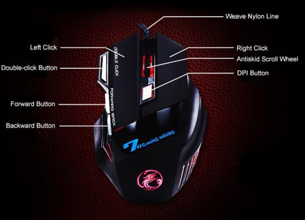 Professional Wired Gaming 7 Button Mouse - 1