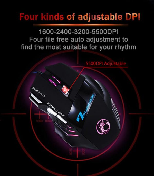 Professional Wired Gaming 7 Button Mouse - 6