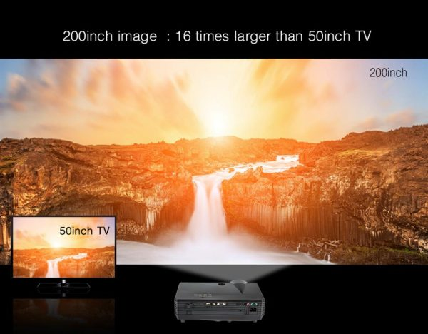 Smart LED Projector For Home Theater - Screen Size